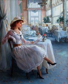 ~ Girl with a letter ~ Konstantin Razumov, Russian