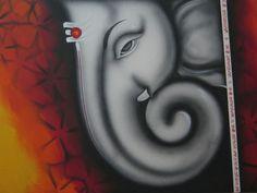 Ganesha art Shri Ganesh Images, Ganesha Pictures, Lord Ganesha Paintings, Ganesha Art, Small Canvas Art, Diy Canvas Art, Rangoli Designs Flower, Kids Art Class, Elephant Art