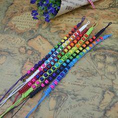 Weave rope string small beads friendship bracelets 24pcs/lot handmade charm/Strand bracelets Fashion jewelry free shipping LB14