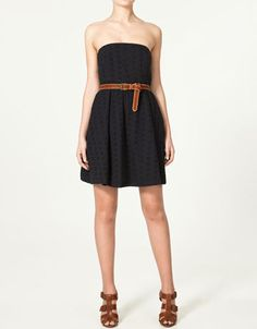The belt and the shoes make this outfit!  #dress