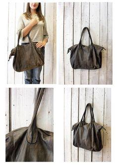 "Handmade Italian  Leather Messenger Bag ""Taglio Vivo "" di LaSellerieLimited su Etsy"