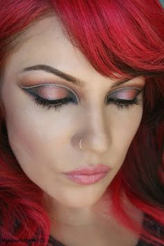 Make-up Artist Me!: Between Lines By MakeupArtistMe! -Between Lines --TheBodyneeds:  Heliotrope, Beach Party, Steal the Night, Lola Blush, lip color in Touch.