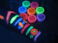 Maquillaje Neon Fluorescente Brilla Con Luz Negra Lucis Bfn