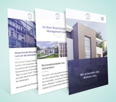 Modern mobile Webdesign, responsive and simple. Inspiration for color scheme, images and usage of fonts