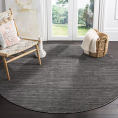 Safavieh Vision Tanasa Modern Ombre Rug x Round - Grey), Gray