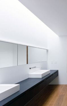 Boffi bathroom, the Tsai Residence weekend house in Ancram, New York by HHF Architects _