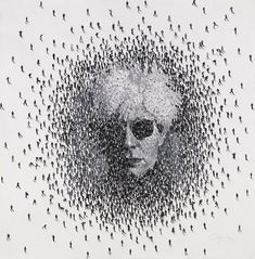 Artist Craig Alan creates unique portrait art by painting swarms of people who, together, form one cohesive image.