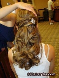 brunette long wedding hairstyle - 99 Hairstyles Ideas