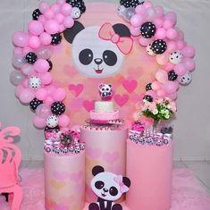 Panda Themed Party, Panda Birthday Party, Panda Party, Diy Birthday, Birthday Party Themes, Diy Wedding Decorations, Balloon Decorations, Birthday Decorations, Communion Centerpieces