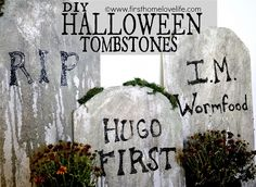 diy halloween tombstone decorations