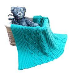 Babatakaró hullámos leveles mintávaal kötve letölthető leírás - BABA Baba, Blanket, Knitting, Tricot, Breien, Stricken, Weaving, Blankets, Knits