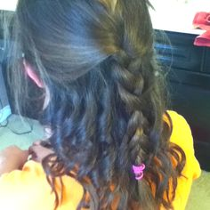 Simple braid and curls