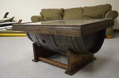 Hey, I found this really awesome Etsy listing at https://www.etsy.com/listing/217997862/barrel-coffee-table-with-shadow-box