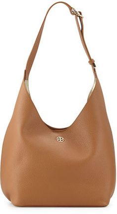 Tory Burch Perry Leather Hobo Bag, Bark