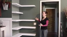Watch How She Builds These Awesome Corner Shelves To Save Some Space!
