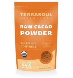 Terrasoul Superfoods Raw Cacao Powder (Organic). Rich in antioxidants, zinc, calcium and potassium...