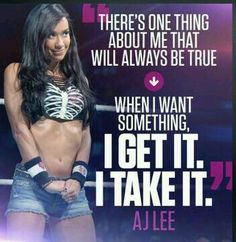 Today's Dates That It Has Been Set: August 22, 2014 Picture of: AJ Lee I love this! Yaya