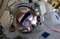 French astronaut Thomas Pesquet of the European Space Agency snaps his first space selfie during his first spacewalk, on Jan. 13, 2017. Credit: ESA/NASA