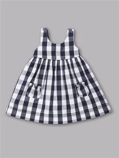 GORGEOUS French baby style for your little girl this summer!With no pockets or deeper square ones.black and white checkered dress - Baby DressGirls Red Gingham Dress Baby Girl Dress Toddler by TootandPuddlestriped dress and bloomers for baby girl and Baby Dress Design, Frock Design, Little Dresses, Little Girl Dresses, Toddler Dress Patterns, Little Girl Dress Patterns, Kids Frocks, Baby Sewing, Kind Mode