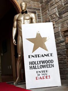 Hollywood-style Halloween party--would be better as an Oscar party, m'thinks