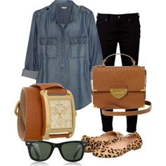 Cute casual outfit! loving the leopard flats.