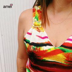 ...Porque amamos detalhes ♥ #lojaamei #detalhes #cor #promo #vestido
