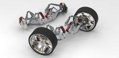 Pushrod Suspention System / Double Wishbone Suspension Sustem | 3D CAD Model Library | GrabCAD Pedal Cars, Rc Cars, Electric Motor, Electric Cars, Karts, Suspension Design, Truck Wheels, Buggy, Diy Car