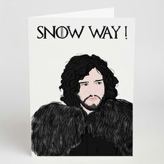 Snow Way Greeting Card http://shop.nylon.com/collections/whats-new/products/snow-way-greeting-card