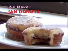 Jam Donuts made in the Pie Maker, cheekyricho cooking video recipe ep. - Jam Donuts made in the Pie Maker, cheekyricho cooking video recipe ep. – Jam Donuts made i - Donut Maker Recipes, Mini Pie Recipes, Apple Recipes, Holiday Recipes, Easy Desserts, Delicious Desserts, Dessert Recipes, Sunbeam Pie Maker, Yeast Free Recipes