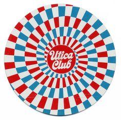 Utica Club coaster Beer Mats, Coaster Design, Beer Coasters, Logo Line, Illustrations, Patterns In Nature, Design Reference, Vintage Paper, Vintage Designs