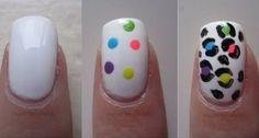Cheetah print nail DIY