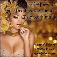 """ULTIMA ZI DE CONCURS•19 OCTOMBRIE-09 NOIEMBRIE """" Mandri ca suntem producatori romani de parfumuri !"""" Concursul este aici :  http://www.el-divino.ro/Concursuri-premii-parfumuri.php PREMII : Prin tragere la sorti se va acorda un premiu pentru 1 participant : CADOU pentru """"EA""""( parfum+spray de corp parfumat ) CADOU pentru """"EL""""(parfum+after shave )  Pentru promovare intensa El-Divino se vor acorda la 5 participanti : CADOU pentru """"EL""""(after shave) CADOU pentru """"EA""""(body mist)"""
