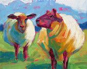 Sheep - Sheep Art - Sheep Print - Matted Giclee Print