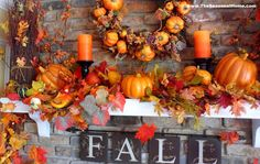 Image result for fall Decoration Christmas, Fall Mantel Decorations, Thanksgiving Decorations, Halloween Decorations, Mantel Ideas, Thanksgiving Table, Seasonal Decor, Thanksgiving Pictures, Harvest Decorations