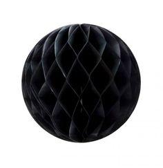 Boule alvéoléenoir conçue à partir de papier de soie.  Ne pas hésiter à associer avec des boules alvéolées de plus petite taille, des guirlandes, des pompons ou des ballons.  ATTENTIONdeux diamètres auchoix :   15 cm 25 cm   Livré à plat avec du scotch autocollant pour la fermeture  Design par My Little Day