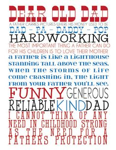 Homespun With Love: FREE PRINTABLE: Father's Day Subway Art *REVISION POSTED*