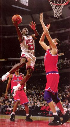 Michael Jordan Chicago Bulls Washington Bullets Georghe Muresan