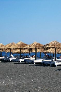 Perivolos beach, Santorini Greece