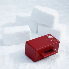 Snow Bricker  | The Land of Nod ... if we lived somewhere with a bit more snow in the typical forecast Snow Toys, Brick Molding, Snow Activities, Holiday Activities, All Toys, Kids Toys, I Love Snow, Outdoor Toys, Baby Store