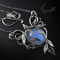 AZTAGHIN - Silver and Moonstone by LUNARIEEN.deviantart.com on @DeviantArt