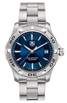 TAG Heuer 'Aquaracer' Steel Bracelet Watch | Nordstrom