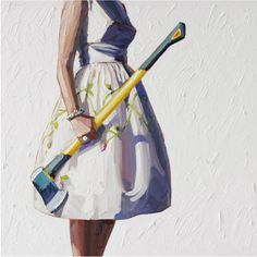 because nothing says ladylike more than a cute summer dress paired with an axe...I'm game:)
