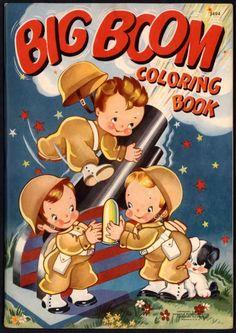 Big Boom Coloring Book Merrill 1942