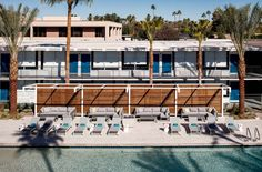 Get ready to take a plunge in this rooftop pool or chill under a cabana all day. Rooftop pool and cabanas at Hotel Adeline in Scottsdale, AZ. Rooftop Pool, Live Edge Wood, Bohemian Design, Resort Style, Modern Buildings, Cladding, Midcentury Modern, Home Art, Deck