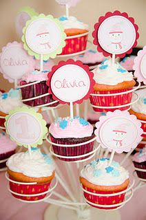 Winter Onederland Cupcake Toppers