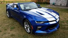 Blue Camaro, Camaro 2ss, Chevrolet Camaro, Chevy Camaro Convertible, Cars And Motorcycles, Luxury Cars, Cool Cars, Automobile, Trucks