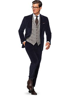 Suitsupply Suits: Soft-shoulders, great construction with a slim fit—our tailored, washed and formal suits are ideal for any situation. Men's Waistcoat, Suit Vest, Mens Suits, Grey Suits, Suit And Tie, Wedding Suits, Dapper, Menswear, My Style