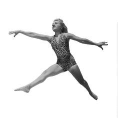 Dancer Jumping Vintage