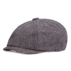 8ad0e040 Men Vintage Octagonal Cotton Newsboy Beret Cap Travel Handsome Plaid Casual  Hat