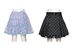 f117117fbe07d 人気、キッズファッションの通販  mezzo piano   KIDS メゾピアノ のドット柄後ろフリルスカート 透かしチェック花柄スカート